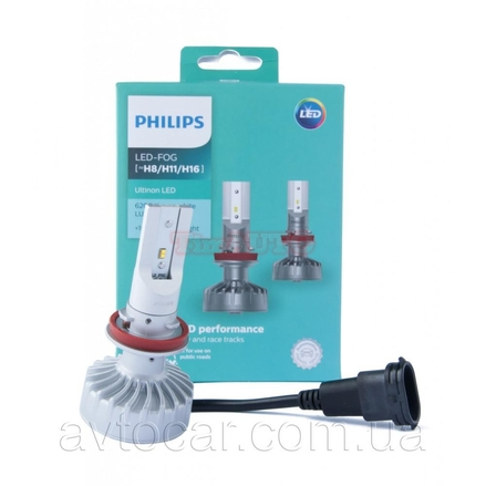 Лампа автомобильная Philips H11 /H8 /H16 12V LED 6200K Ultinon LED Fog