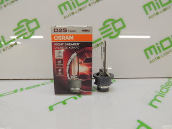 Лампа ксенон OSRAM D2S 12V 35W P32d-2+70% Xenarc Night Breaker Unlimited 4350K