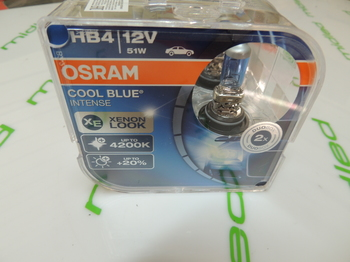 OSRAM HB4 12V 51W COOL BLUE INTENSE 2шт 9006CBI-HCB
